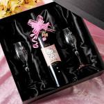 【ワイン赤・白】 名入れ プレゼントハローキティ記念ボトル&ノーチェワイングラスセット 【グラス付】 ホワイトデーにいかが?