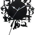 【猫グッズ】「Abeille 猫の振り子時計 ネコ ブラック」 シンプルな猫の振り子時計にデザイン性をカンジます(*´ω`*)