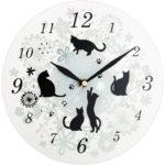 【ZERO的チョイスアイテム】 そろそろ部屋の壁掛けの時計を替えようかと… 【猫ガラス掛時計】 これは!オシャレでエレガント!